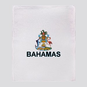 Bahamian Arms (labeled) Throw Blanket