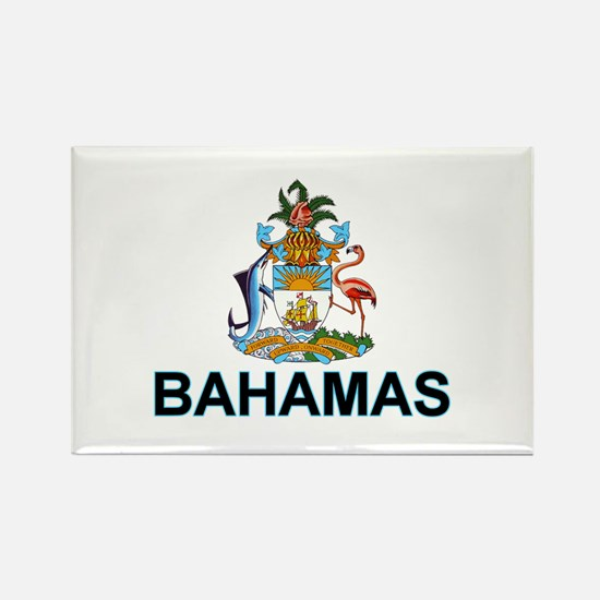 Bahamian Arms (labeled) Rectangle Magnet