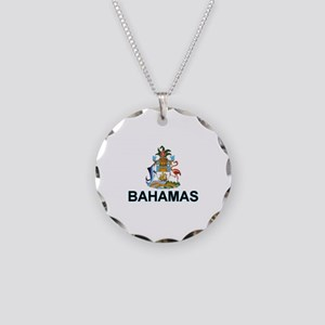Bahamian Arms (labeled) Necklace Circle Charm