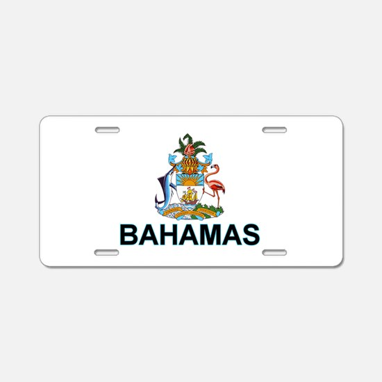 Bahamian Arms (labeled) Aluminum License Plate