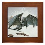 Winter Dragon: Framed Tile