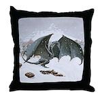 Winter Dragon: Throw Pillow