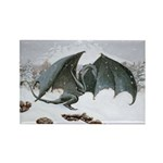 Winter Dragon: Rectangle Magnet (100 pack)