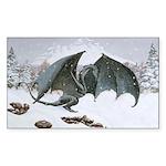 Winter Dragon: Rectangle Sticker