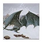 Winter Dragon: Tile Coaster