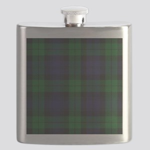 Blue Green Highland Sunderland Tartan Check Flask