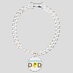 """""""World Best Dad"""" Charm Bracelet, One Charm"""