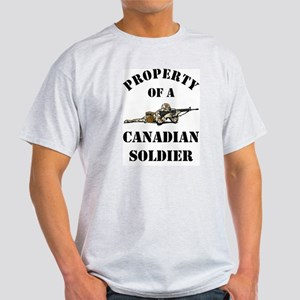 Property of Canadian Soldier Ash Grey T-Shirt