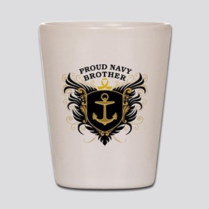 Proud Navy Brother Shot Glass