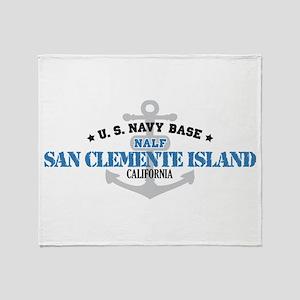 US Navy San Clemente Base Throw Blanket