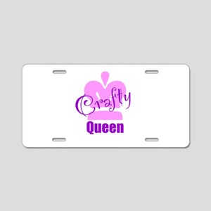 Crafty Queen Aluminum License Plate