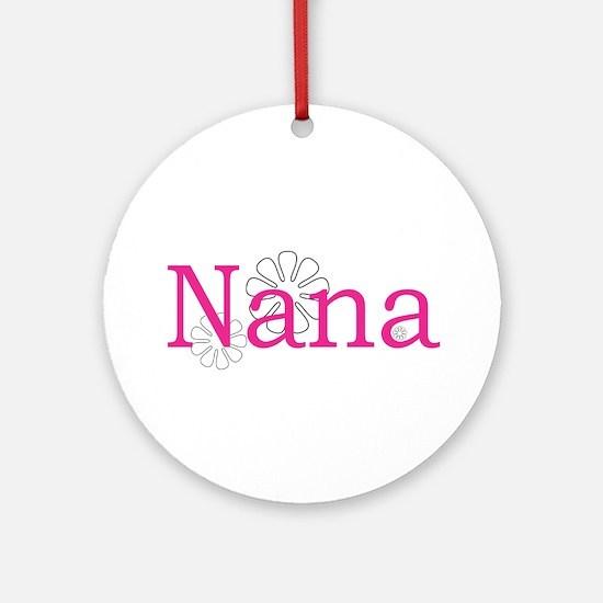 Nana Pink Ornament (Round)