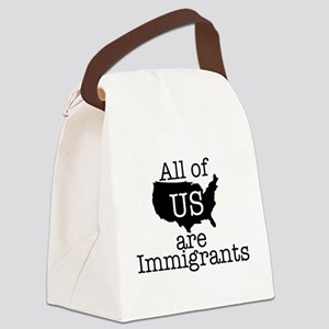 All of US are Immigrants Canvas Lunch Bag
