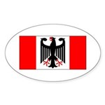 German Canadian Sticker (Oval 50 pk)