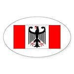 German Canadian Sticker (Oval 10 pk)