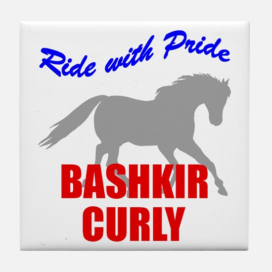 Ride With Pride Bashkir Curly Tile Coaster