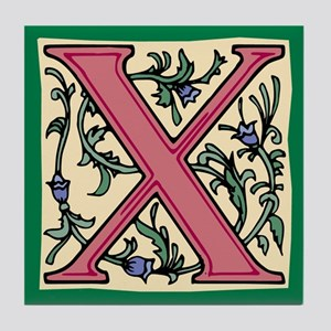 "Garden ""X"" in Mauve Tile Coaster"
