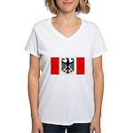 German Canadian Women's V-Neck T-Shirt