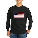 German American Long Sleeve Dark T-Shirt