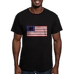 German American Men's Fitted T-Shirt (dark)