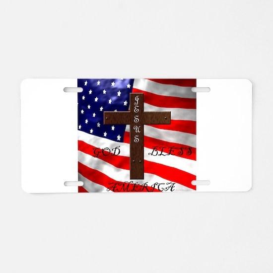 Cool God bless america Aluminum License Plate