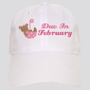 Due In February Baby Announcement Hat