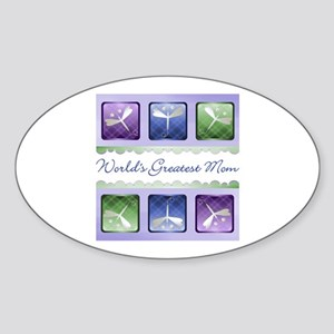 World's Greatest Mom (dragonfly) Oval Sticker