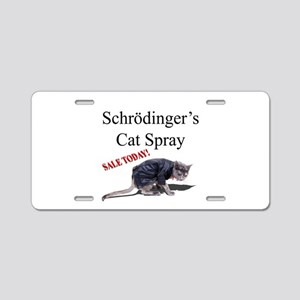 Schrodingers Cat Spray Aluminum License Plate