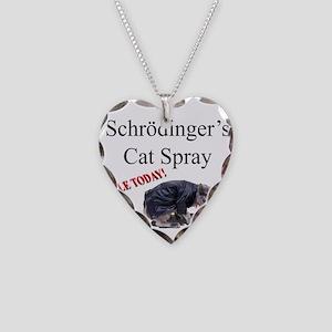 Schrodingers Cat Spray Necklace Heart Charm