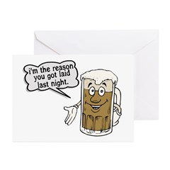 Beer Is The Reason Greeting Cards (Pk of 10)