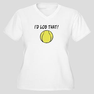 I'd Lob That Women's Plus Size V-Neck T-Shirt