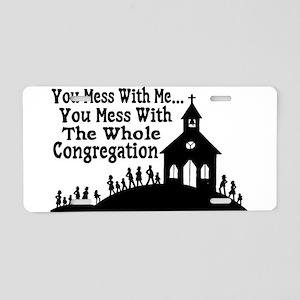 Whole Congregation Aluminum License Plate