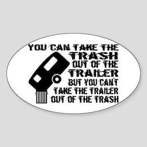 Trailer From Trash Sticker (Oval)