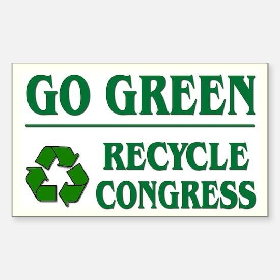 Go Green Recycle Congress - Rectangle Decal