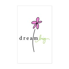 Dream Big Rectangle Decal