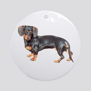 Lily Baby Dachshund Dog Ornament (Round)