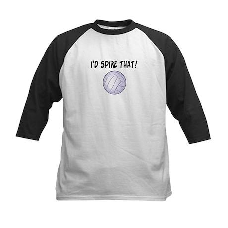 I'd Spike That Volleyball Kids Baseball Jersey