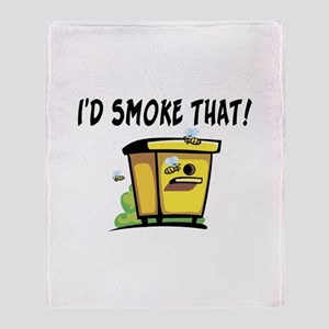 I'd Smoke That Bee Hive Throw Blanket