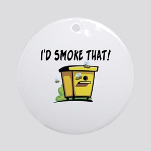 I'd Smoke That Bee Hive Ornament (Round)