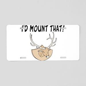 I'd Mount That Head Aluminum License Plate