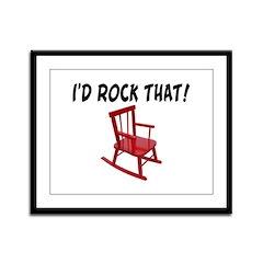 I'd Rock That Chair Framed Panel Print