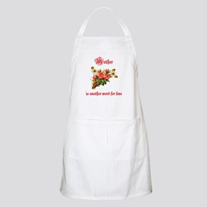 Mother is another word for love (red) BBQ Apron
