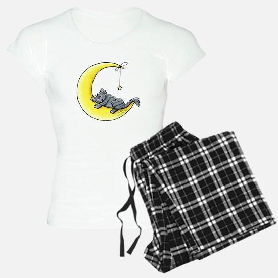 Gray Tabby Lunar Love Pajamas