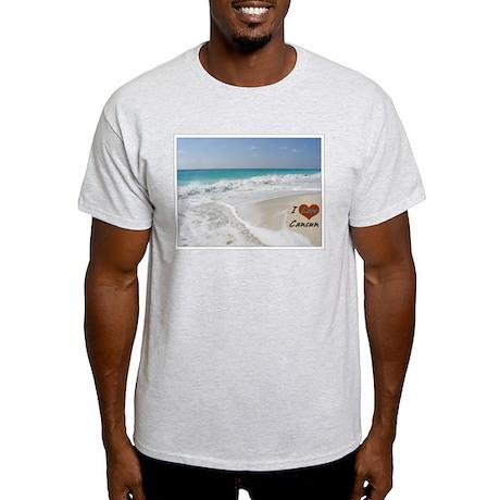 I Love Cancun Ash Grey T-Shirt