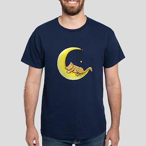 Tabby Kitten Lunar Love Dark T-Shirt