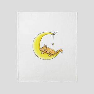 Tabby Kitten Lunar Love Throw Blanket
