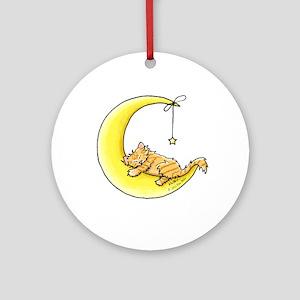 Tabby Kitten Lunar Love Ornament (Round)