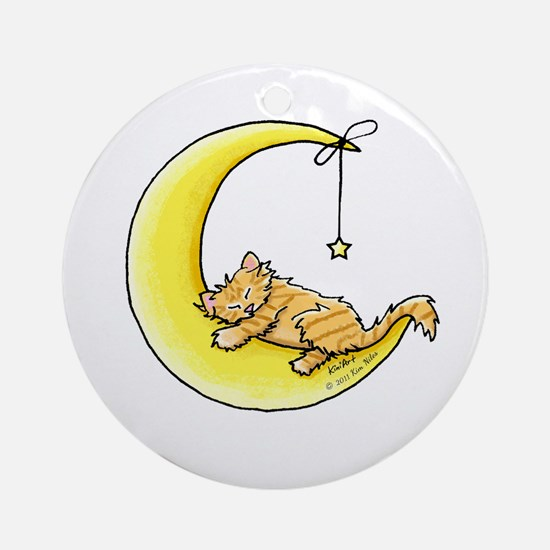 Tabby Kitten Lunar Love Ornament (Round)