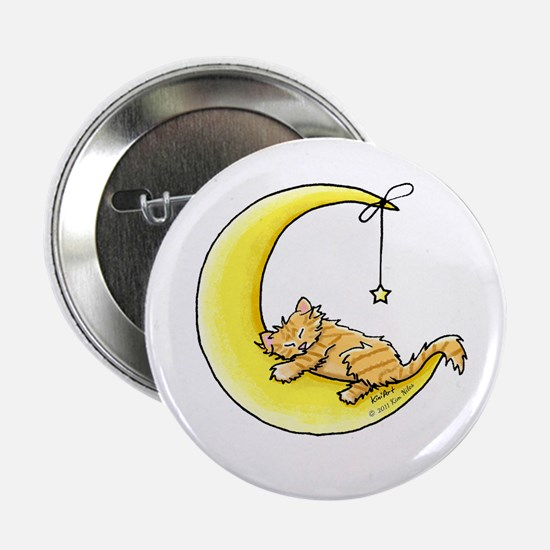 "Tabby Kitten Lunar Love 2.25"" Button"