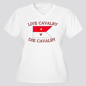 4th Squadron 7th Cavalry Women s Plus Size V-Neck dfc14da16